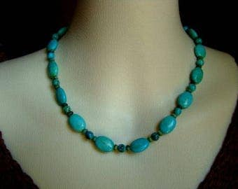 Turquoise Oval Choker