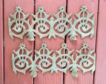 Architectural iron pieces from 1800's home