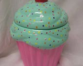 Mintaliscious Polka Dot Party Cupcake Jar