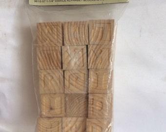 Unfinished Wood Alphabet Blocks