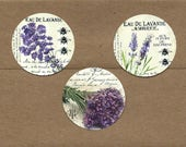 Stickers, Lavender, Purple Flowers, 18 pcs, Lavender Stickers, Bee, Nature Stickers