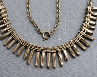 Jakob Bengel Machine Age Brickwork Necklace / Art Deco Jewelry
