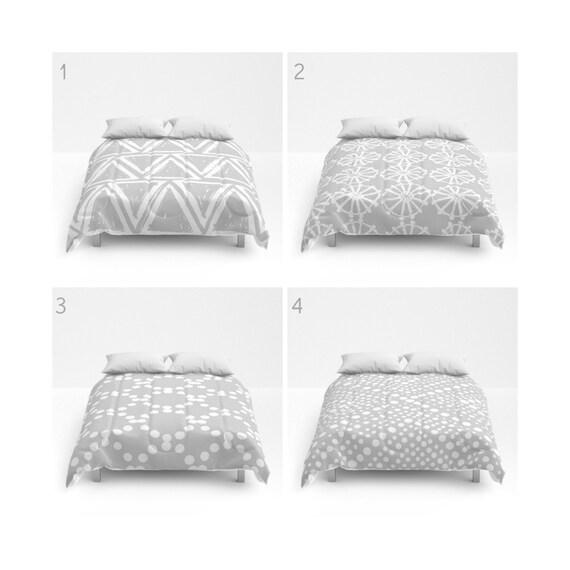 Silver Grey and White Comforter - Queen Comforter - King Comforter - Full Comforter - Twin Comforter Twin XL  Bedding Bedspread