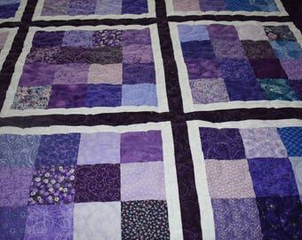 Handmade Symphony in Violet Quilt