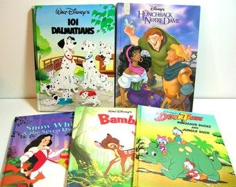 Vintage Disney Book Collection, Set Of Five