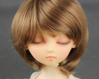 Fatiao - New Dollfie MSD Kaye Wiggs 1/4 BJD Size 7-8 inch Latte Dolls Wig