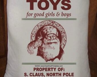 Feed Sack, Flour Sack Bag, Prim Decor, Christmas Sack, Country Decor, Muslin Bag, Vintage Feed Sack, Cotton Sack, Toys for Good Girls & Boys