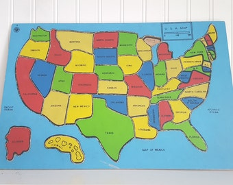 United States Puzzle Etsy - Map of the usa states
