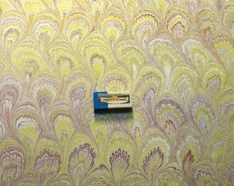 "1   hand marbled paper, マーブル紙"" cm 50 x 70   .carta marmorizzata,  ebru -  16400"