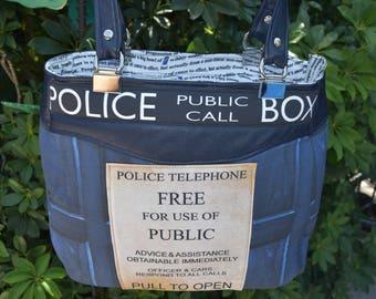Police Box Doctor inspired Evelyn Bag