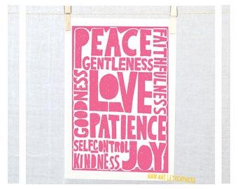 Fruits of the Spirit, Christian Inspirational, Wall Art, Modern Nursery Decor, Holy Spirit, Baptism, Confirmation
