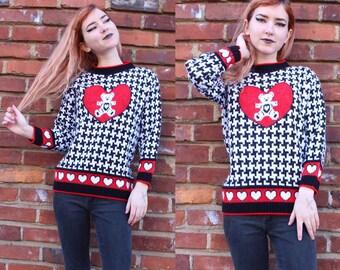 80s Vintage Teddy Bear Sweater