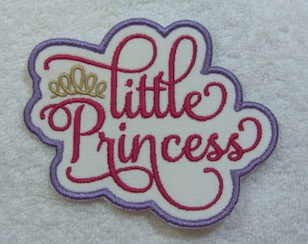 Little Princess Patch Fabric Embroidered Iron on Applique Patch Ready to Ship