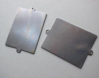 2 Large Industrial Steel Pendant Blanks