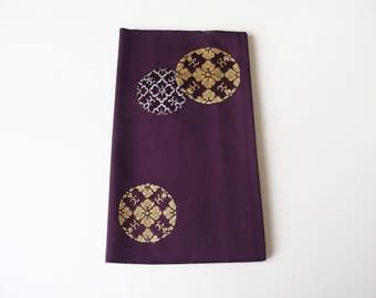 Kinpu Fukusa Purple Ceremonial Cloth Envelope From Japan With Ornamental Design