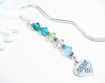 Personalized Bookmark for Nana // Gift for Nana // Nana Gift // Nana Bookmark // Grandmother Gift // Birthstone Nana // Birthstone Gift