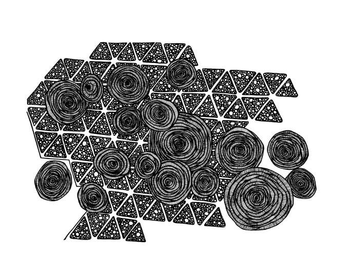 Sugarcane Tiles Pen & Ink