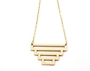 Gold Devo Necklace
