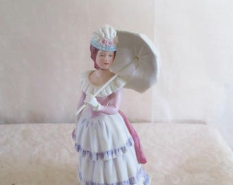 Victorian Lady with Parasol Homco