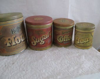 Ballonoff Like Set of 4 Tin Canisters
