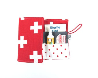 First Aid Kit - Red Cross - emergency kit first aid pouch medicine bag