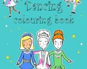 Irish Dancing Colouring Book