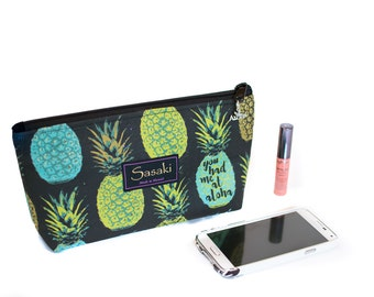 You Had Me At Aloha - Medium Cosmetic Bag with Zippered top - 10 x 5 x 2