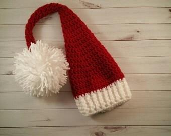 Christmas Santa Costume, Baby elf costume, baby santa hats, christmas outfit, baby hat, crochet santa hat, christmas baby hat, elf hat