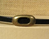 Oval Frame Sliders for 5mm Flat Leather - Antique Brass - SP143 - Choose Your Quantity