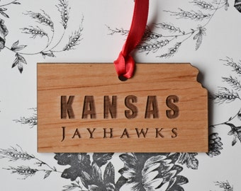 University of Kansas Jayhawks Engraved Ornament