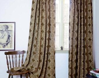 Indigo curtains Blue curtains window boho bedroom home decor