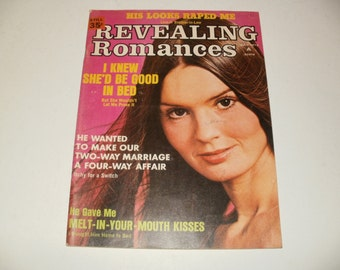 Vintage Revealing Romances Magazine July 1973 - Campy  Spicy Stories - Hair Styles Paper Ephemera Retro 1970s