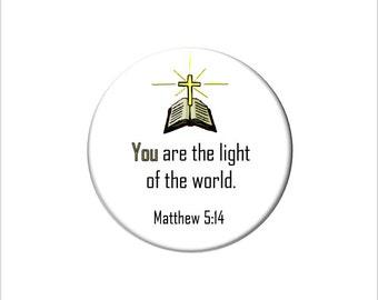 Matthew 5:14 Christian Bible Verse  Refrigerator Magnet Scripture Fridge Magnet You are the Light of the World