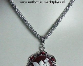 Fairy Cameo Chainmail Necklace