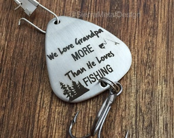 We Love Grandpa More than He loves Fishing Lure Grandpa Birthday Grandpa Gift Fishing Lure Gift Papa Fishing Gift for Grandpa Father's Day