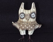 Owl Doll Primitive Folk Art Handmade OOAK