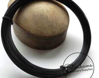Plastic Hat Brim Wire for Millinery and Hat Making 1.2mm - Black