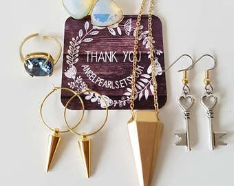 Spike Earrings,Hoop earrings,Womans Gift,Punk Earrings,grunge,Alternative Wedding,Spikes,Dainty,Antique brass,gold,silver,choose,Gift to Her
