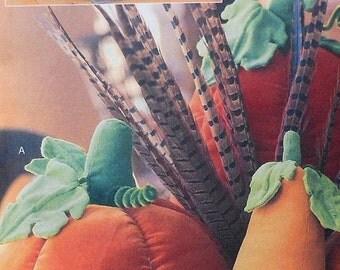 Pumpkin and Gourd Pillow Decor Sewing Pattern UNCUT McCalls 4189