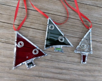 Stained Glass Christmas Trees - Suncatcher-Handmade-Christmas-Ornaments-Stocking Stuffers-Gift Wrapping-Window Decor