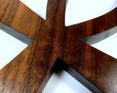 Ankh Cross / Egyptian Symbol / Life / LARGE / Walnut Wood