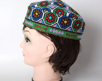 Uzbekistan hat, suzani hat, gift, Ethnic hat, bohemian, boho chic, hat, cap, women, skullcap, belly dance, kilim hat, traditional embroidery