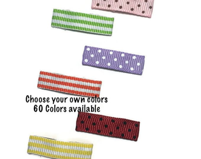 50- 30mm Dots & Stripes Lined MINI Snap Clips