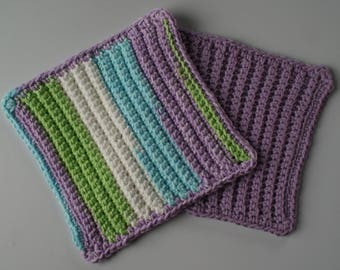 100% Cotton Crochet Dish Cloths Kitchen and Dining Linens Home and Living Kitchen Supplies Pot Holders
