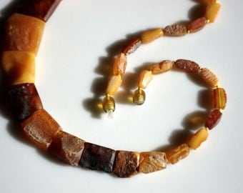 Vintage Butterscotch and Honey Amber Necklace