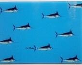 Mini Blue Marlins Cutting Board preppy sportfishing gift boat housewarming