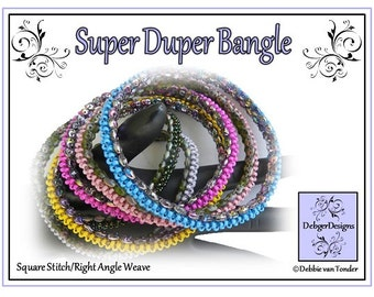 Beading Tutorial, Pattern, Bangle - SUPER DUPER