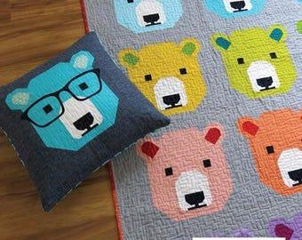 Bjorn Bear Elizabeth Hartman Child Lap Picnic Quilt Pillow Pattern Piecing