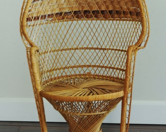 Wicker Chair Etsy