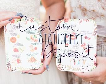 Wedding Stationery Design and Print Deposit